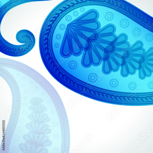 Paisley floral design background.