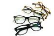 Leinwanddruck Bild - Brillengestelle rund angeordnet