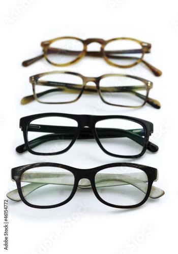 Leinwanddruck Bild Brillengestelle