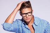Fototapety young casual fashion man
