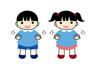 幼稚園児バイバイ
