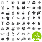 Fototapety Food and drink icons vector