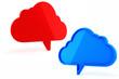 3d cloud bubble talk on white background