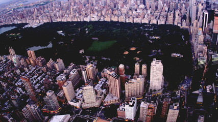 Aerial view Central Park, New York, USA,