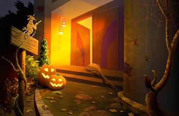 House on the threshold of Halloween