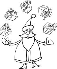 santa claus cartoon for coloring