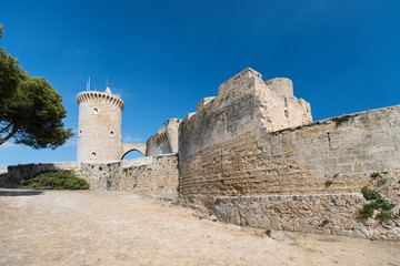 Bellver Castle Castillo tower in Majorca at Palma de Mallorca