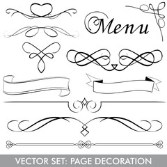 VECTOR SET Menu Page Decoration