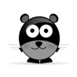 sweet and cute mouse vector illustration