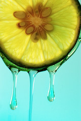 lime juice droplet