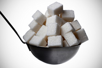 ladle full with sugar
