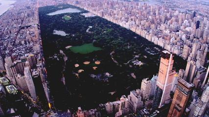 Aerial view Central Park Manhattan, New York, USA,