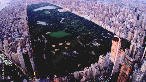 Aerial view Central Park Manhattan, New York, USA,