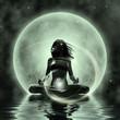 Leinwandbild Motiv Magic Yoga - Moonlight Meditation