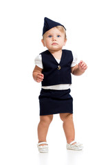 baby girl dressed as  stewardess