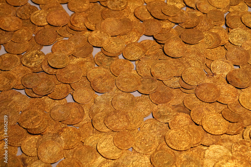 Old gold coins in British Museum
