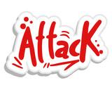 Attack sticker