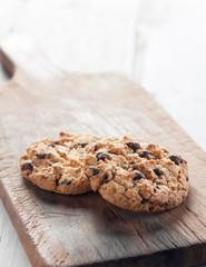 Homemade Cookies on wood