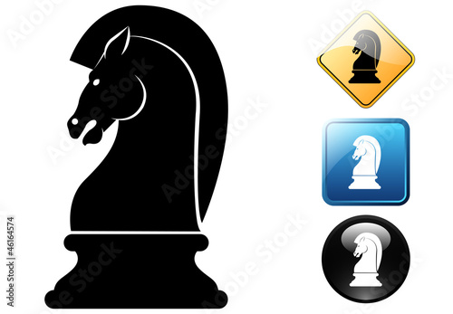 Horse chess pictogram and icons