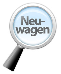 """Lupe """"Neuwagen"""""""