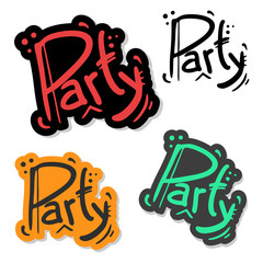 Party graffiti paint
