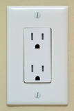 Household Electrical Outlet on the Wall. 110v