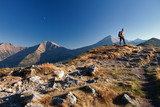 Hiker in Tatras Mountains