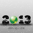 Happy New Year 2013 with Green World