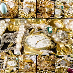 Collage - Gold jewels