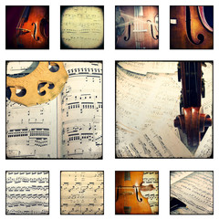 Collage - Music - musical scores