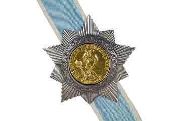 Order of Bohdan Khmelnytsky II degree on the ribbon.
