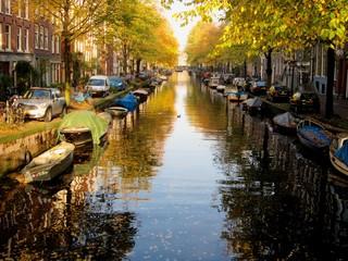 Amsterdam channel in autumn