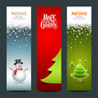 Merry Christmas banner design vertical  set