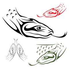 Anaconda snake - vector illustration