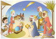 crib-adoration of the Magi