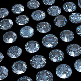Collections of jewelry gems. Swiss blue topaz poster