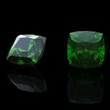 emerald. Collections of jewelry gems poster