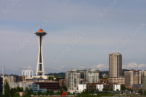 Space Needle and Colorful Buildings