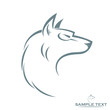 Isolated wolf head - vector illustration