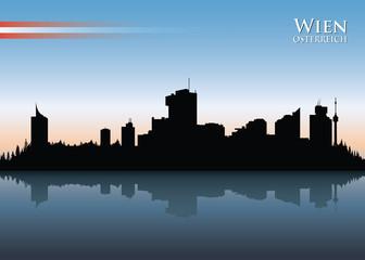 Vienna skyline - vector illustration