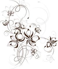 Vintage floral background, vector illustration