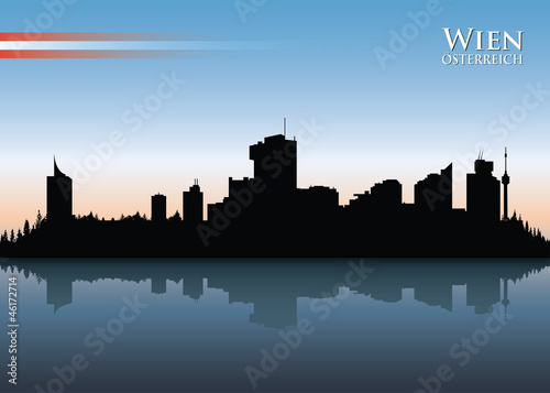 Vienna skyline - vector illustration