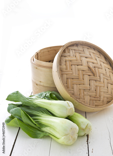 Asian steamer and bok choy