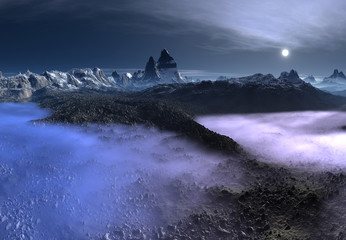 Fantasy Landscape On An Alien Planet