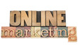 online marketing in wood type