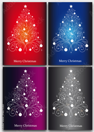 set, fir-tree,Christmas, New Year, background