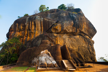 Sigiriya Rock Side Second Level Stairs Lion Feet