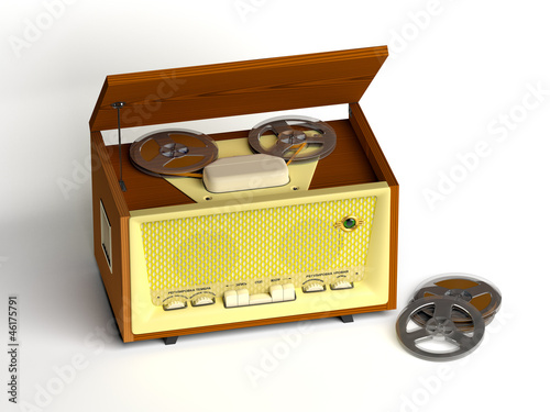 Retro tape recorder