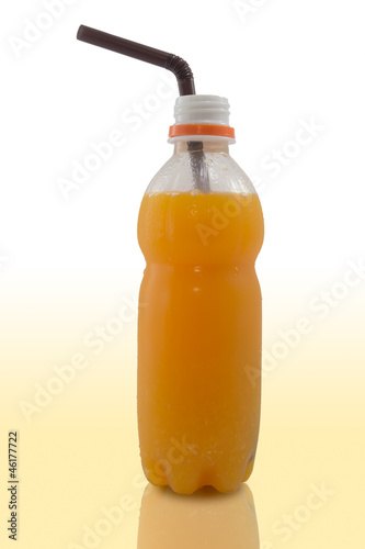 fresh orange juice bottle