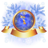 Christmas background with chimes poster
